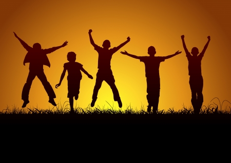 victory: Joy of children