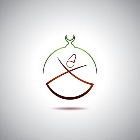 Turkish dervish Illustration