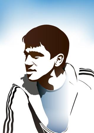 Young footballer Stock Vector - 17045761
