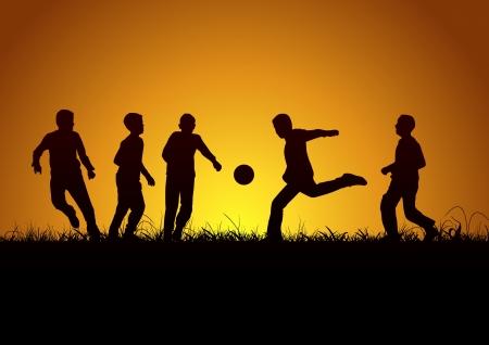 convivencia escolar: Cinco chicos y el fútbol