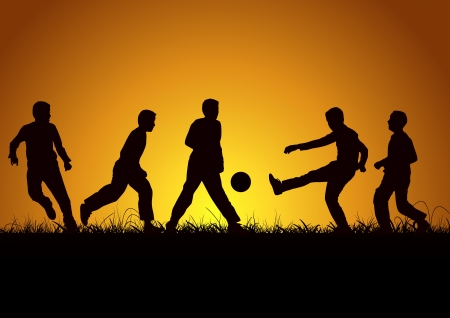 Five boys and sport
