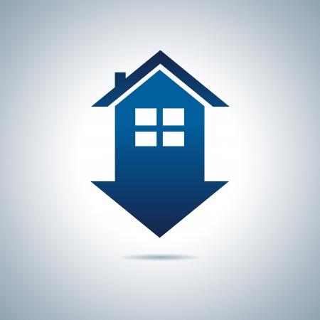 apartment buildings: Blue house