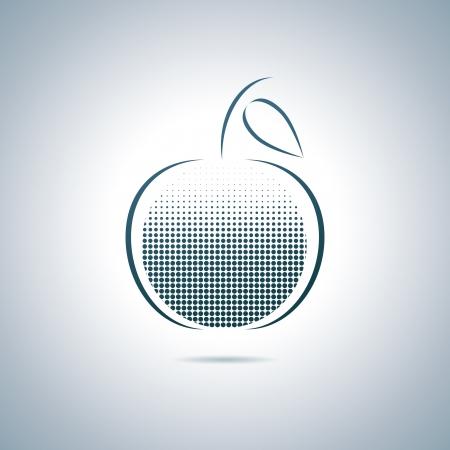 Digital apple Illustration