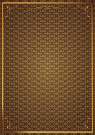 Corner patterns on brown wallpaper Vector
