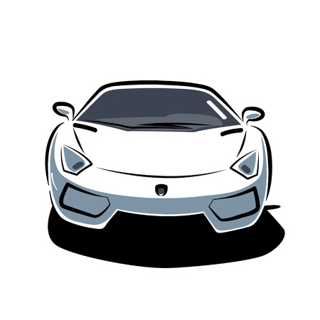 Front of sport car Vector