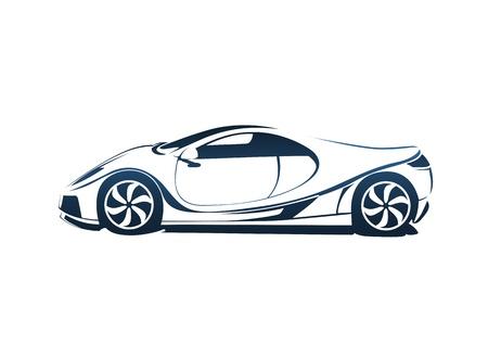 silueta coche: Speedy coche deportivo de carreras