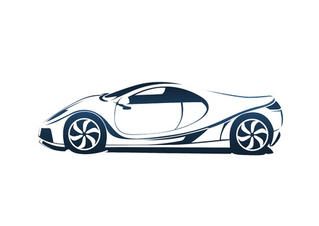 Speedy racing sport car Vector