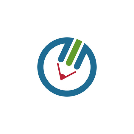 education logo: Colorful pencil logo