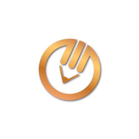 Golden pencil logo Vector