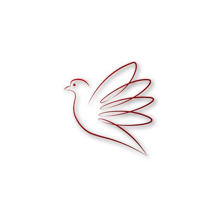 Red Dove Illustration