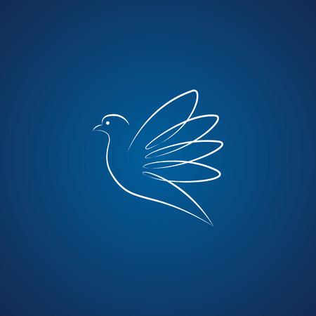 Dove logo over blue