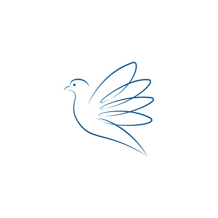 bird logo: blue dove Illustration