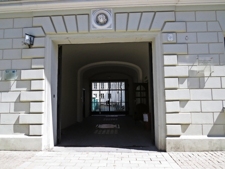 An Entrance to the Historical Building through an Arcade Passage