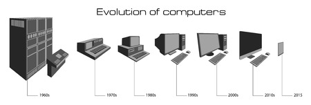 Computer evolution  イラスト・ベクター素材