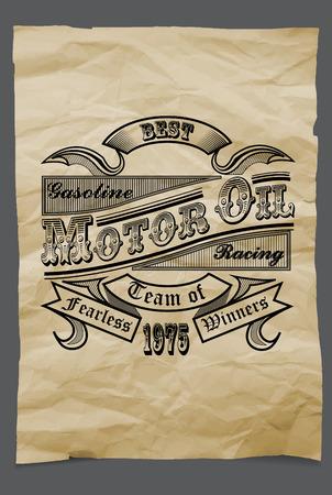 motor oil: Vintage Gasoline and Motor oil