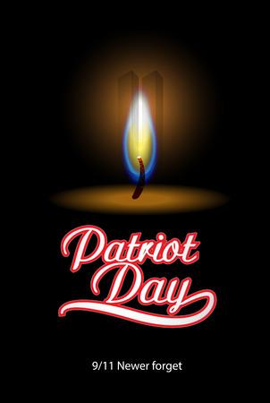 Patriot Day background. Vector illustration