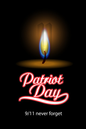 Patriot Day in USA  Vector background
