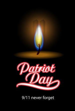 patriot: Patriot Day in USA  Vector background