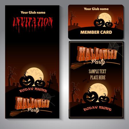 night club: Happy Halloween night club  template  .