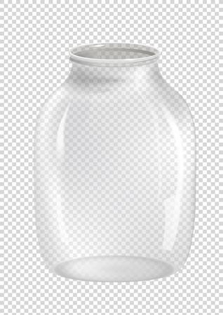 glass jar: Empty jar on transparent background