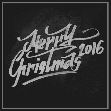 eslogan: Feliz Navidad saludos lema en la pizarra