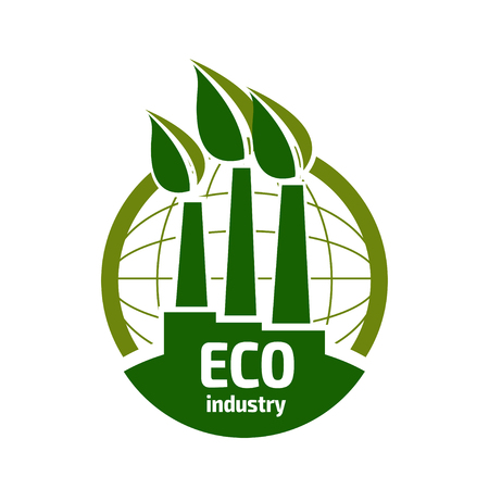 sustain: Eco icon of Ecological industry.