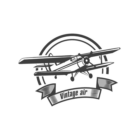 Airplane Club Vector Illustration Emblem 矢量图像