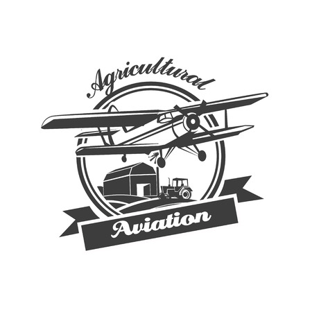 agro: Airplane Club Vector Illustration Emblem Illustration