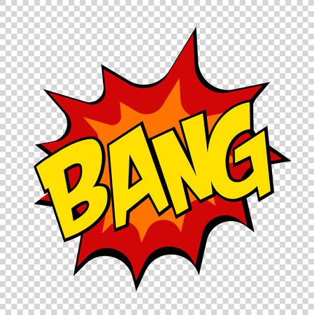 Bang comics icon Pop art Speech Bubble.