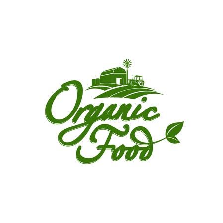 Emblem of organic natural farm fresh food