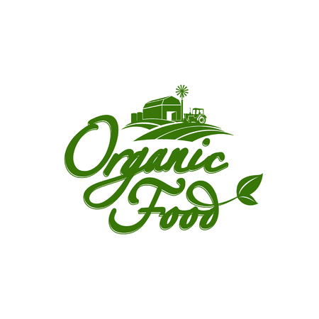Emblem of organic natural farm fresh food