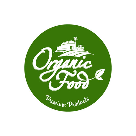farm fresh: Emblem of organic natural farm fresh food
