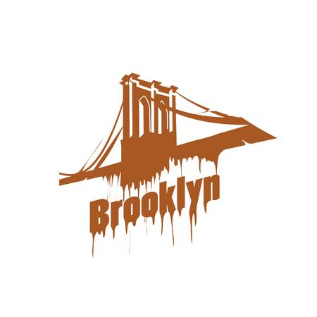 manhattan bridge: New York  Brooklyn Bridge Design emblem