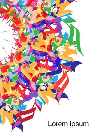 graffiti background: abstract graffiti background. Illustration