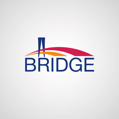 suspension bridge: Modern Bridge Logo Design Element.