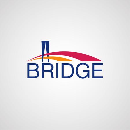 logotipo turismo: Puente moderno elemento de diseño del logotipo. Vectores