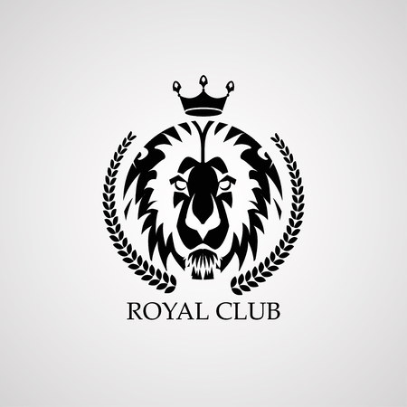 Lion Logo. Royal Club, Vector Logo Template Royalty Free Cliparts ...