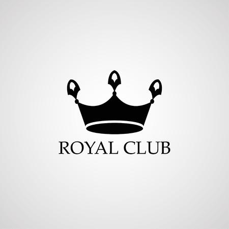 private club: Royal club logo. Crown sign