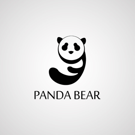 simple logo: Simple sign a panda logo  - design template