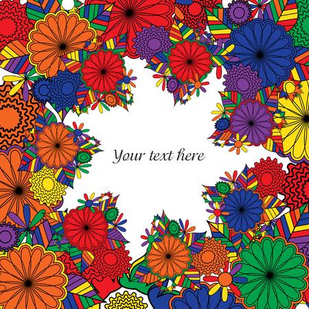 Floral  art background. Vector illustration