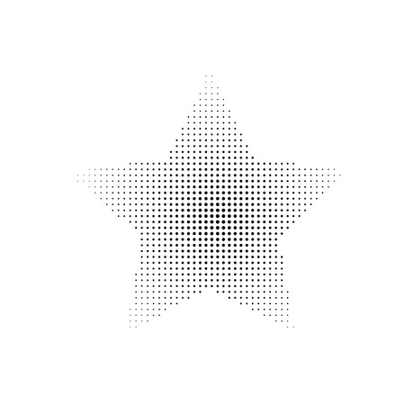 halftone: Halftone star on the white background. Illustration