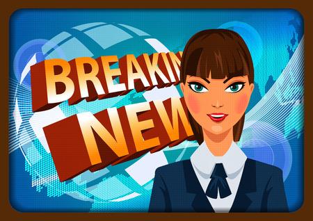 newsflash: illustration of Breaking News background