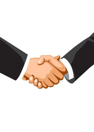 Handshake of business people. Vector illustration concept.
