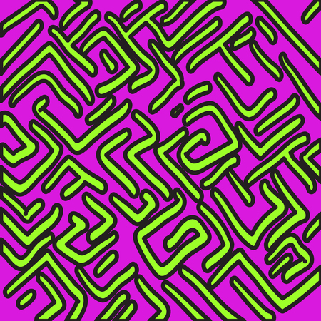 textile image: beautiful color abstract pattern vector illustration of graffiti. Illustration