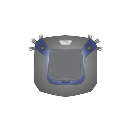 Robot vacuum cleaner isolated on white background