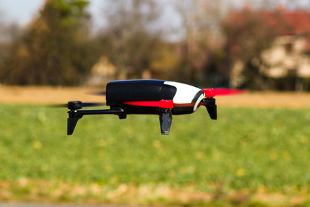 Flying drone outdoor