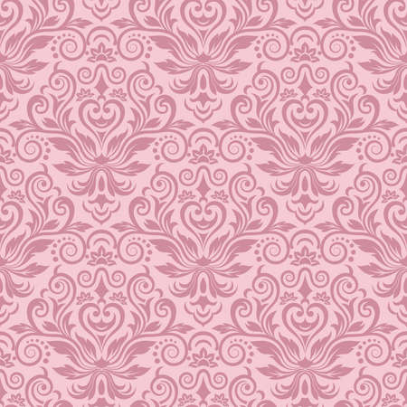 damask wallpaper: Damask seamless pattern for design  Vector Illustration Illustration