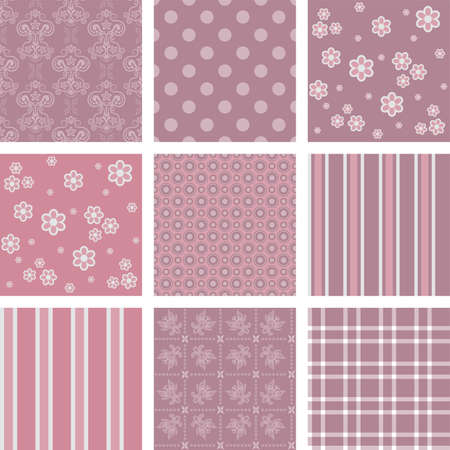 Seamless background Collection, vector Illustration Vector