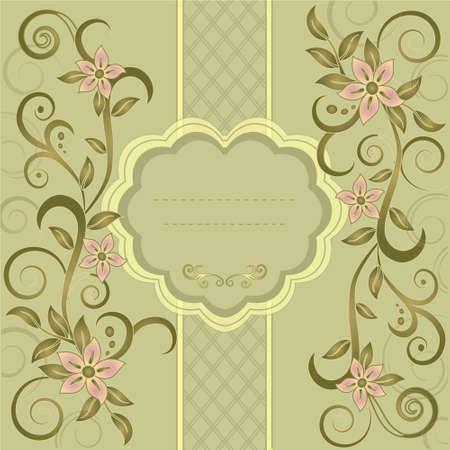 Template frame design for greeting card, vector Illustration Vector