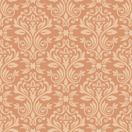 pattern: Damask naadloze patroon voor design Vector Illustratie